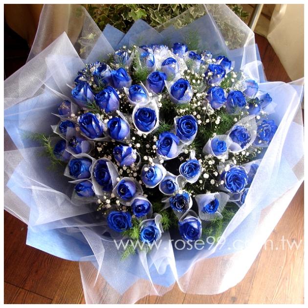 A0005/藍玫瑰花束 1