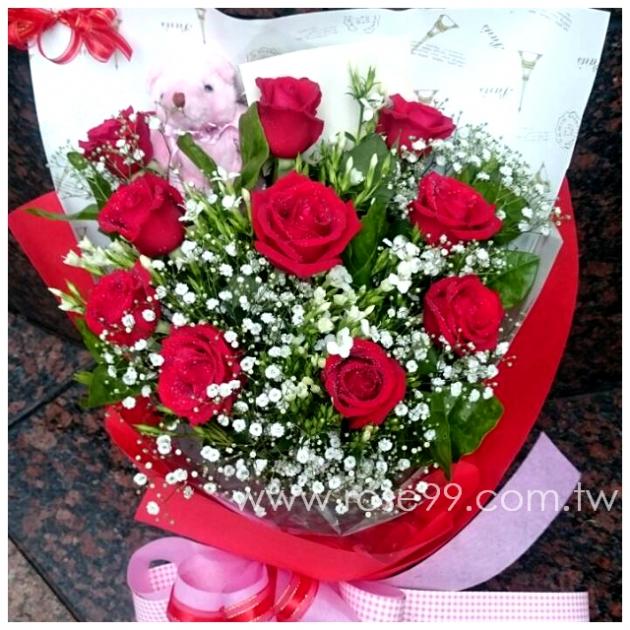 A0018/進口紅玫瑰花束 1