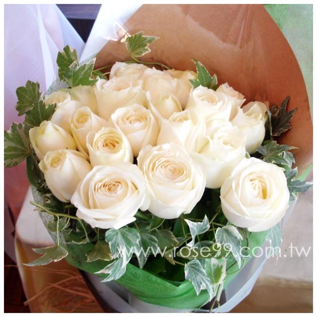 A0019/白玫瑰花束 1