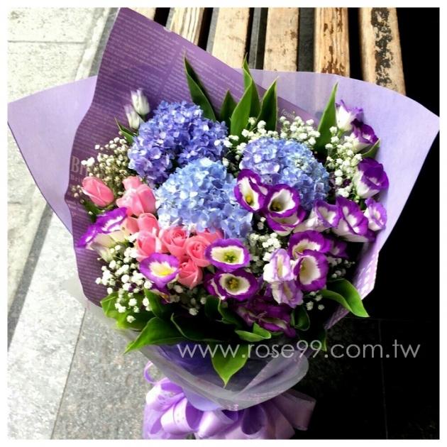 A022歐式藍紫系花束 1