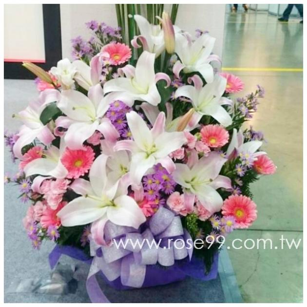 E001淡雅盆花 1