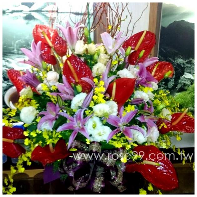 E005豪華盆花 1